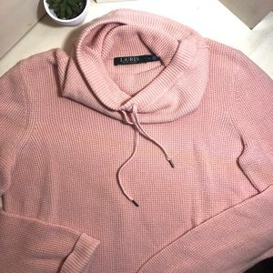 Ralph Lauren Pink Knitted  Crowl Neck Sweater